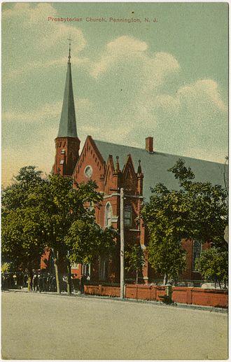 First Presbyterian Church (Pennington, New Jersey) - Image: Pennington NJ Presby PHS767