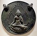 Periodo heian, placca votiva con la dea kannon, 1100-1185 ca.jpg