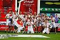 Persepolis F.C. celebrating after 2019–20 Persian Gulf Pro League trophy (8).jpg