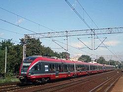 Nowoczesny pociąg PKP Przewozy Regionalne przeznaczony do obsługi połączenia Warszawa - Łódź