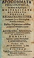Pfettner, Ignaz Apocommata philosophica. Pars III, Dillingen 1681.jpg