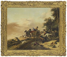 Robbers attacking Peasants in a Wagon