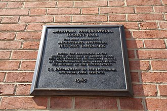 American Philosophical Society - National Historic Landmark Plaque