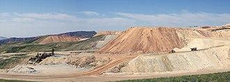 Phosphate mining in the United States - Phosphate mine near Flaming Gorge, Utah, 2008