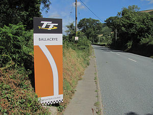Ballacrye Corner - The A3 Castletown to Ramsey road at Ballacrye Corner