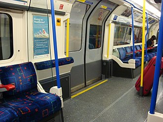 Piccadilly line - Inside a Piccadilly line carriage
