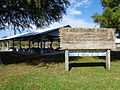 Picnic shelter, Lakeshore Park sign.JPG