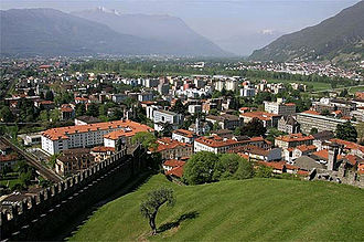 Bellinzona - View of Bellinzona from Castello Montebello