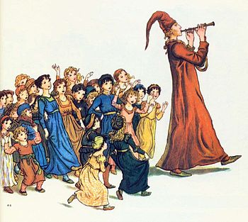Pied Piper with Children