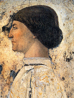 Piero, Sigismondo Pandolfo Malatesta before Saint Sigismund 02