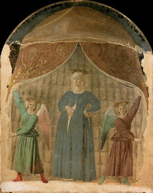 Piero della Francesca - Madonna del Parto, about the 1911 restoration
