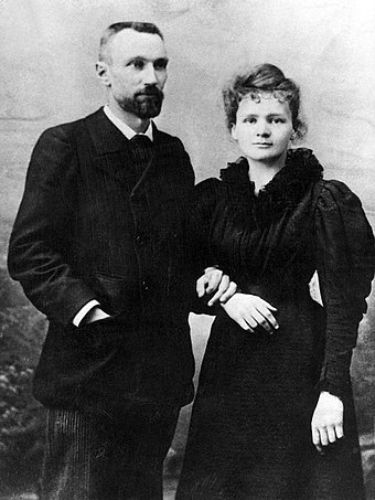 Pierre and Marie Sklodowska-Curie, 1895 Pierre Curie et Marie Sklodowska Curie 1895.jpg