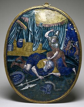 Jael - Limoges enamel plaque, 1550-75