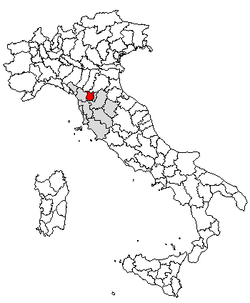 Location of Province of Pistoia
