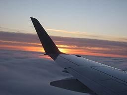 Plane wing by wikimedia