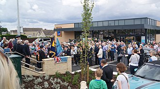 James Harry Lacey - Image: Plaque unveiling for James Harry Lacey, Aldi, Wetherby (23rd July 2017) 005