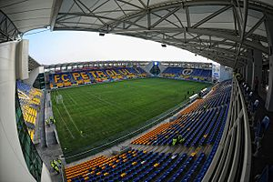 Ilie Oană Stadium - Image: Ploiești Stadionul Ilie Oană 1