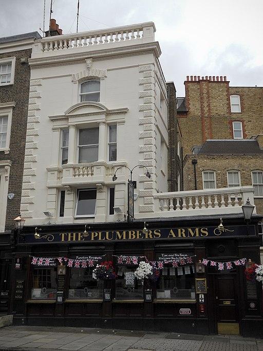 Plumbers Arms in Lower Belgrave Street (June 2012)