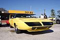 Plymouth Roadrunner Superbird 1970 Lemon Twist Yellow RFront TBS 09Feb2014 (14584527994).jpg