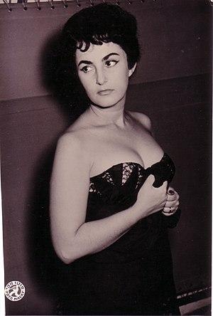 "Pnina Gary - Pnina Gary as Estelle Rigault in ""No Exit"", Tel-Aviv 1958"