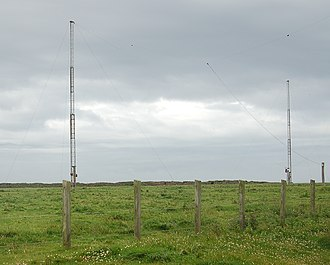 Poldhu - Area of the station in the year 2007, antennas operated by the Poldhu Amateur Radio Club
