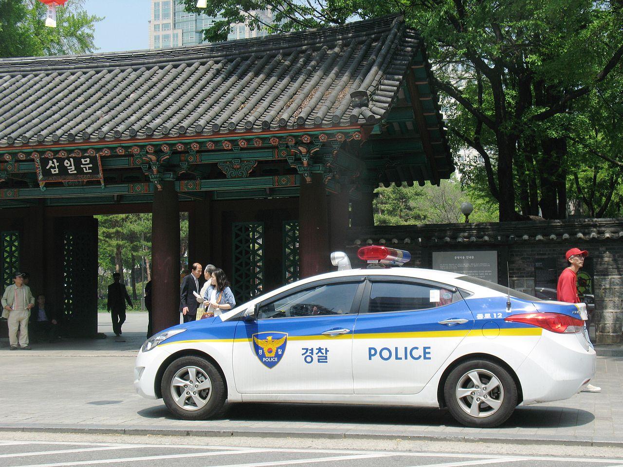 File Police Car In Seoul South Korea Jpg Wikimedia Commons