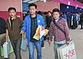 Polling officials carrying Electronic Voting Machines (EVM) and other election materials for the General Elections-2014, at the distribution centre, at Kurseong, Darjeeling constituency on April 16, 2014.jpg