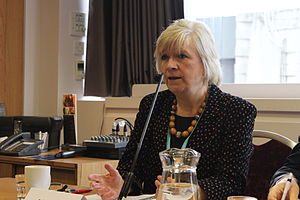 Polly Toynbee - Toynbee speaking to Policy Exchange in 2013