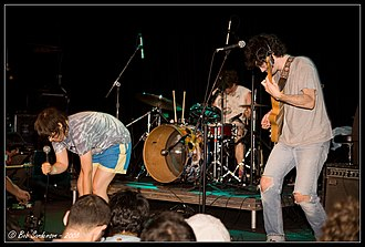 Ponytail (band) - After the Jump Fest, Williamsburg, Brooklyn, NY 6/21/08 . Photo by Bob Sanderson