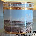 Porcellana di vienna, 1800 circa, servito con vedute di vienna prima della costruzione del ring, lattiera 01 (1).JPG