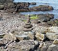 Portencross beach, environmental art.JPG