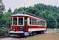 """Portland """"Council Crest"""" Brill streetcar 503 at terminus of Trolley Park museum line in 1986.jpg"""