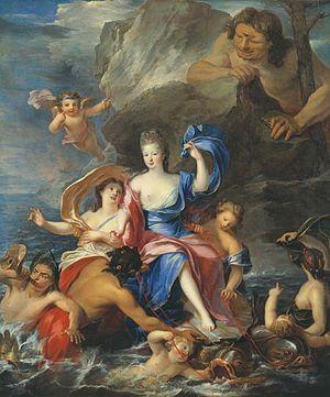 Françoise Marie de Bourbon - Mademoiselle de Blois as Galatea Triumphant, 1692, Pierre Gobert.