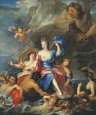 Pierre Gobert - Image: Portrait of Mademoiselle de Blois (1677 1749), as Galatea Triumphant