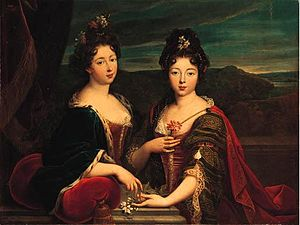 Louis, Count of Armagnac - Louis' two daughters the future Princess of Monaco and Mademoiselle d'Armagnac by Nicolas Fouché