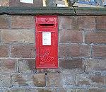 Post box at Sandy Knowe, Wavertree.jpg