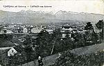 Postcard of Ljubljana from Golovec 1915.jpg