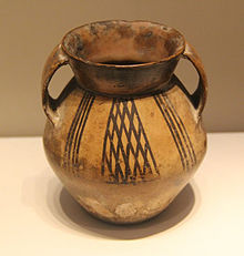 Pottery jar, Qijia culture, Gansu. National Museum of China.JPG