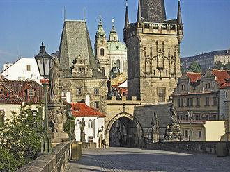 Judith of Thuringia - Judith Tower (left), Charles Bridge