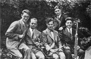 Wind quintet - The Prague Wind Quintet, c. 1931