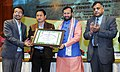 Prakash Javadekar presented the best ENVIS center awards, at the National Interaction-cum-evaluation workshop for Environmental Information System (ENVIS) centres, in New Delhi.jpg