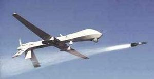 Disposition Matrix - Predator drone launching a Hellfire missile of the kind used to kill terrorism suspects.