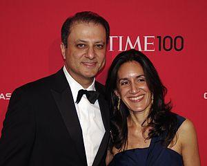 Preet Bharara - Bharara with his wife at the 2012 Time 100 gala