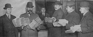 Recall election - Submitting petitions for the recall of Seattle, Washington mayor Hiram Gill in December 1910; Gill was removed by a recall election the following February, but voters returned him to the office in 1914.