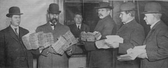 Recall election - Submitting petitions for the recall of Seattle, Washington mayor Hiram Gill in December 1910; Gill was removed by a recall election the following February, but voters returned him to the office in 1914