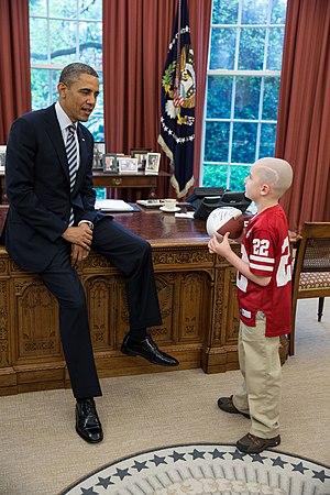 Jack Hoffman - President Barack Obama greets Jack Hoffman, April 29 2013 in the Oval Office