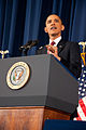 President Barack Obama speaking on the military intervention in Libya at the National Defense University 13.jpg