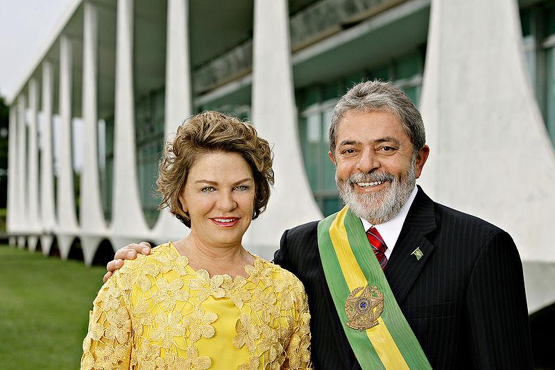 Ficheiro:President Lula and Marisa 2007.jpg