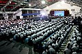 President Rodrigo Duterte addresses the audience during the 48th Anniversary of the 250th Presidential Airlift Wing.jpg