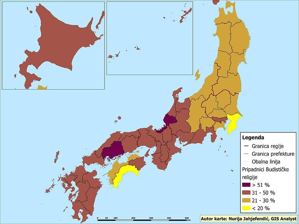Pripadnici budističke religije u Japanu